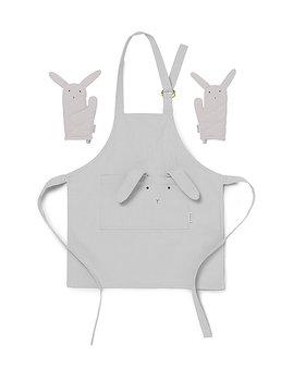 Ekologiskt barnförkläde Vincent Rabbit (Dumbo grey) / Liewood