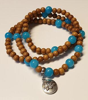 Mala armband - sandelträ & turkos Jade