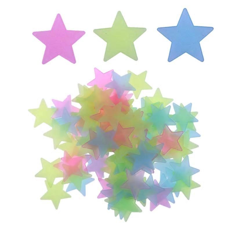 Självlysande Stjärnor 100 st för Väggdekor   Glow in the Dark