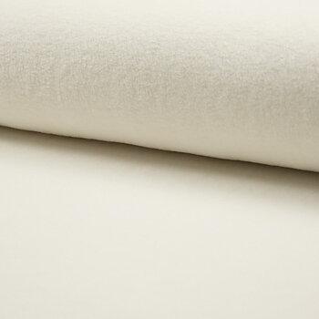 FLEECE 80% BOMULL - OFF WHITE