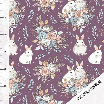 GARDEN BUNNIES - DARK PLUM
