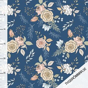 GARDEN FLOWERS - DARK BLUE