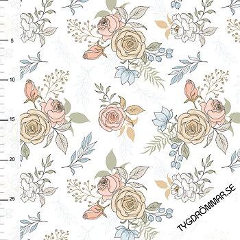0,5M - GARDEN FLOWERS - OFF WHITE