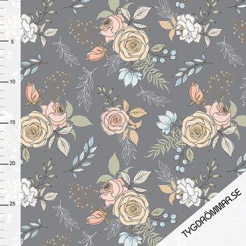 0,5M - GARDEN FLOWERS - GRAY