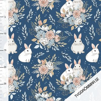 0,5M - GARDEN BUNNIES - DARK BLUE