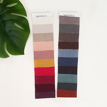 COLOUR CHART - STONEWASHED LINNEN
