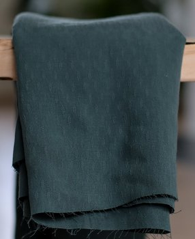 DIAMOND JACQUARD TENCEL ™ - DEEP GREEN
