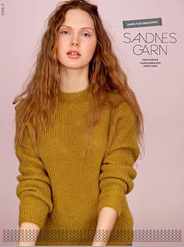 Resårstickad tröja i Sandnes Tynn silk mohair