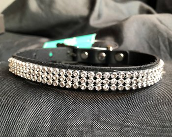 Puppy Angel luxury Monaco Dog Collar L - Black