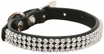 Puppy Angel luxury Monaco halsband L - Svart
