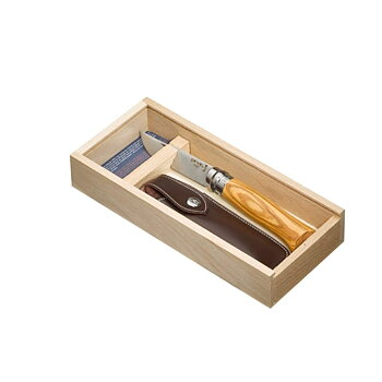 Opinel Luxury Olive No8 Gift Box + Sheath