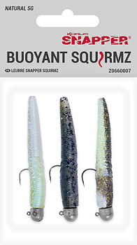 Korum Snapper Squirmz - Natural 3-pack