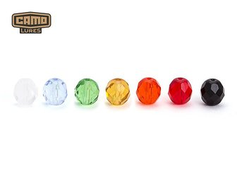 CAMO glaspärlor 6mm Ruby 10-pack