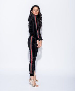 Luxury Velvet Tracksuit Set Black