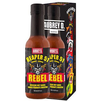 Aubrey D Rebel Reaper 51 hot sauce