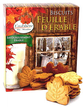 Biscuits Feuille d'Érable - Érabliere Du Moulin Maple Leaf Cookies