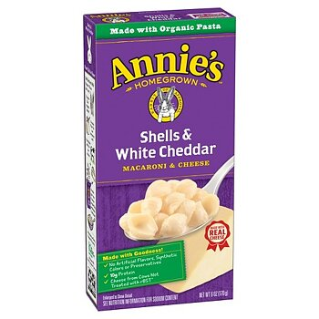 Annie's Homegrown Shells & White Cheddar Mac & Cheese (Made with Organic Pasta)