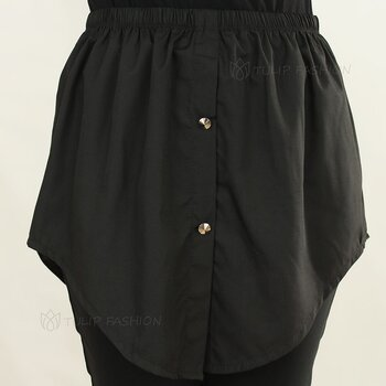 Button Skirt - Svart
