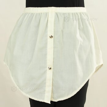 Button Skirt - Off White