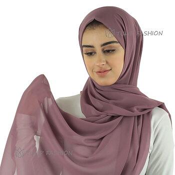 Hijab - Chiffon - Mörk Mauve