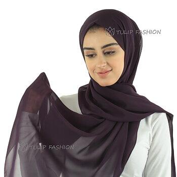 Hijab - Chiffon - Purple Jam