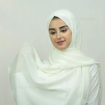 Hijab - Crepe Jazz - Off White