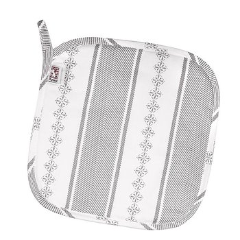 Shyness Potholder Bolster White/Grey
