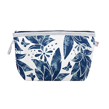 Shyness Cosmetic case Butterfly L White/Navy