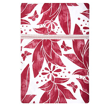 Shyness Duvet Butterfly White/Red