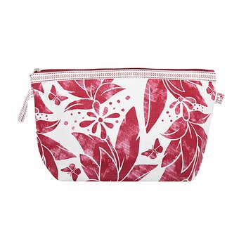 Shyness Cosmetic case Butterfly L White/Red