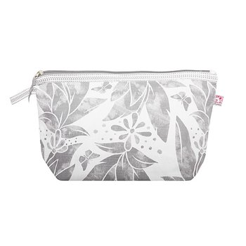 Shyness Cosmetic case Butterfly L White/Grey