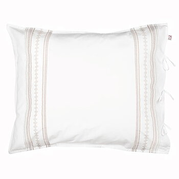 Shyness Pillow Case Bolster Sand/White