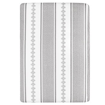 Shyness Duvet Bolster Grey/White