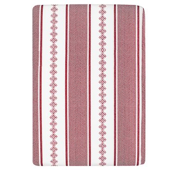 Shyness Duvet Bolster Double Red/White