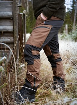 HYBRID PANT BROWN MED 100% VATTENTÄT STRETCH