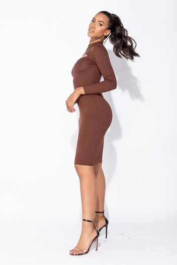 JULIE  DRESS BROWN