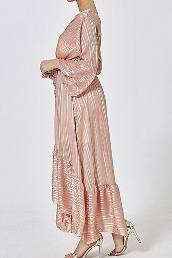VANESSA DRESS DUSTY PINK METALLIC