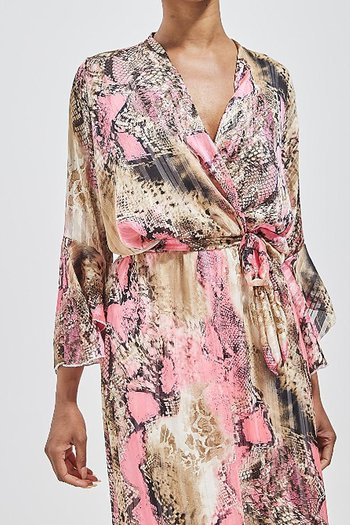 VANESSA  DRESS PINK SNAKE