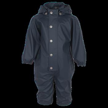 EN FANT - Blå enfärgat regnställ