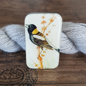 Bird storage tin small