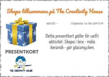 Presentkort - The Creativity House Flervalsvoucher
