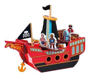 Pirat Skepp Med Figurer