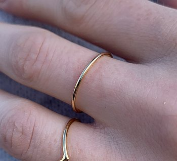 RING PLAIN ROUND GOLD