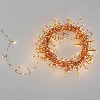 Koppar ljusslinga med LED belysning 15 m