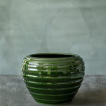 Vasen Honey i grönt  från Bergs Potter 16 cm
