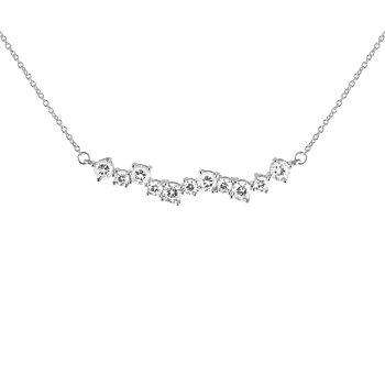 Gatsby stone neck silver 40-45 silver