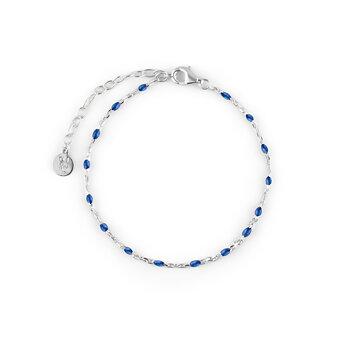 Beaded brace blue silver