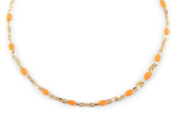 Beaded neck 40-45 orange gold