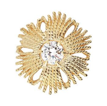 Gatsby stone brosch/pendant gold