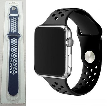 Silikon band till Apple Watch - Blå & Vit
